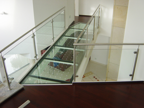 powerglass® walkable glass / glass bridge di Peter Platz Spezialglas