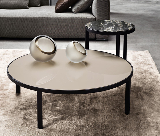 Riley by minotti coffee table black brown coffee table for Minotti coffee table