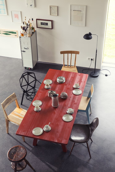 Stijl table and bench de Lampert