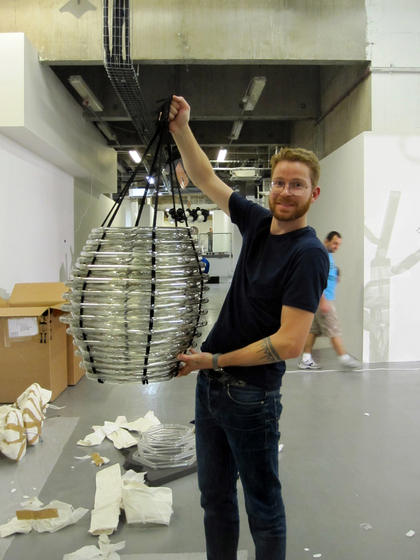 Basket Chandelier by LOBMEYR
