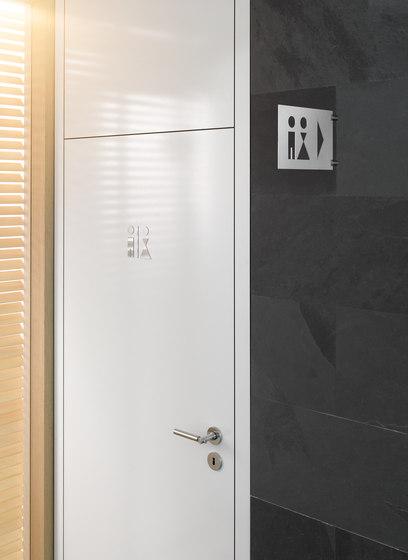 Hinweisschild Wegweiser WC Herren by PHOS Design
