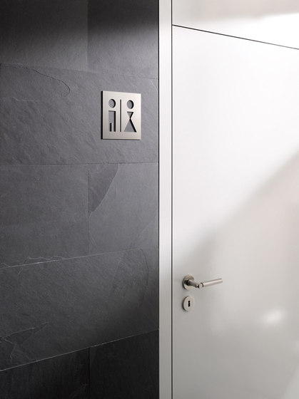 Hinweisschild WC Jungen Mädchen by PHOS Design