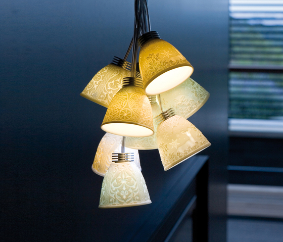 Lithophanes braided - Hanging lamp by Lladró