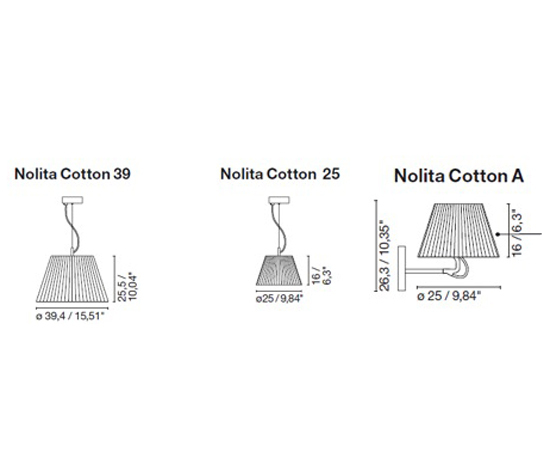 Nolita Cotton pendant by Marset