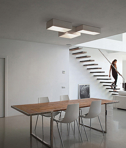 Link ceiling lamp quintuple by Vibia