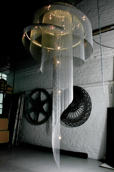 Spiral Nebula Art Chandelier 1000 by Willowlamp