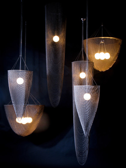 Custom Stream Pendant Lamp by Willowlamp