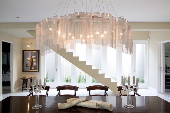 Custom Geometric Chandelier de Willowlamp