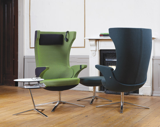 i-SIT armchair and stool by Magnus Olesen