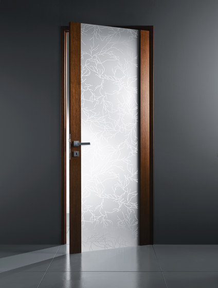 Vetro madras per porte con telaio in legno di - Porte in legno e vetro per interni ...