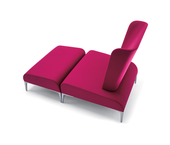 Alphabet - Fi Tall | Armchair + Pouf by Segis