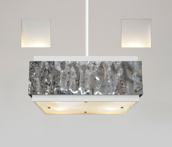 Crushed Cover hanging lamp long by Brand van Egmond