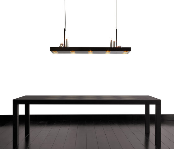 Table d'Amis hanging lamp square by Brand van Egmond