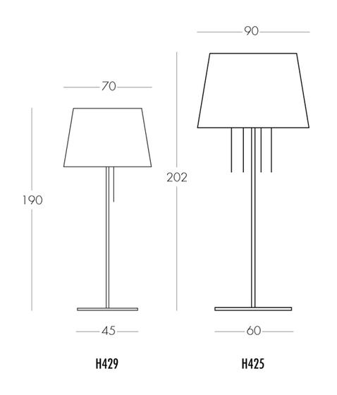 Néo H425 floor lamp by Dix Heures Dix