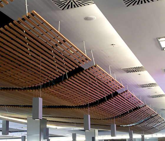 Wood Grid Ceiling Falsos Techos De Hunter Douglas