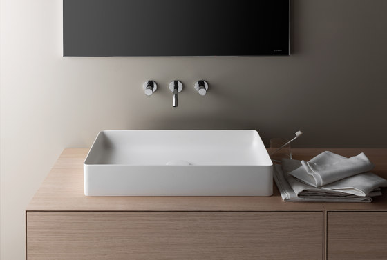 living square Built-in washbasin by Laufen