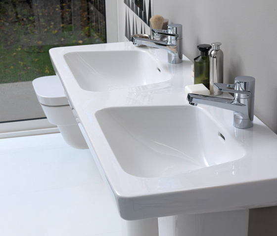 Modernaplus | Double countertop washbasin by Laufen