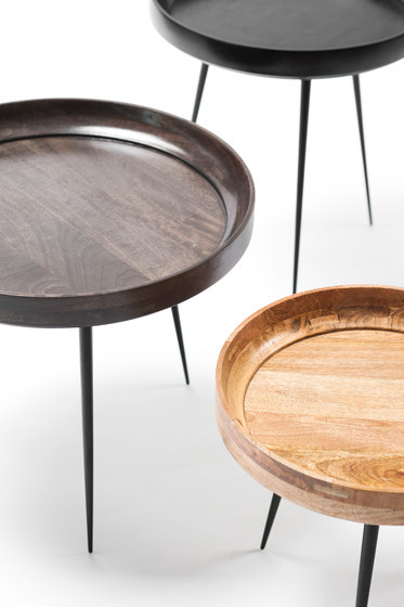 Bowl Table - Black Stained Mango Wood- M by Mater