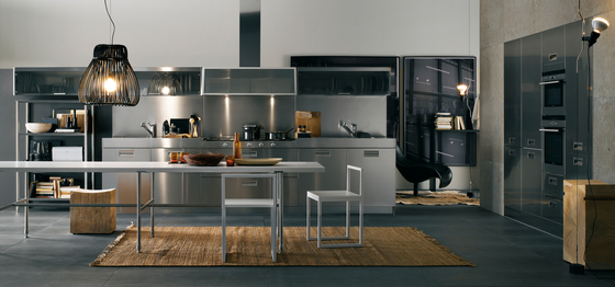 dacke kitchen island italia by arclinea armour pvd product 3076