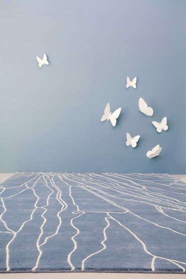 Butterfly Rug Blue 1 by GAN