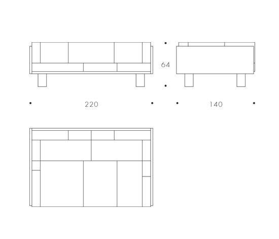 Ottoman Sofa XL * by Colé