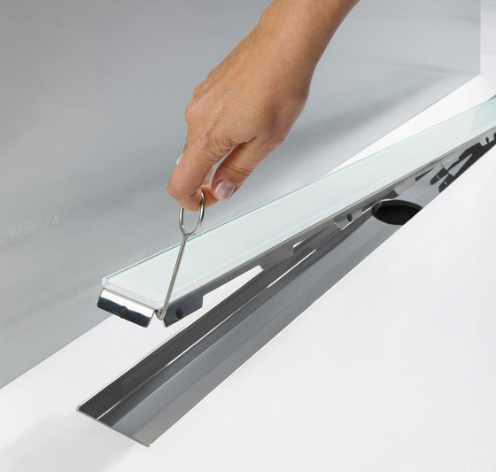 TECEdrainline shower channels glass schwarz by TECE