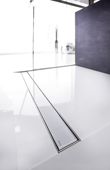 TECEdrainline shower channels glass weiss by TECE