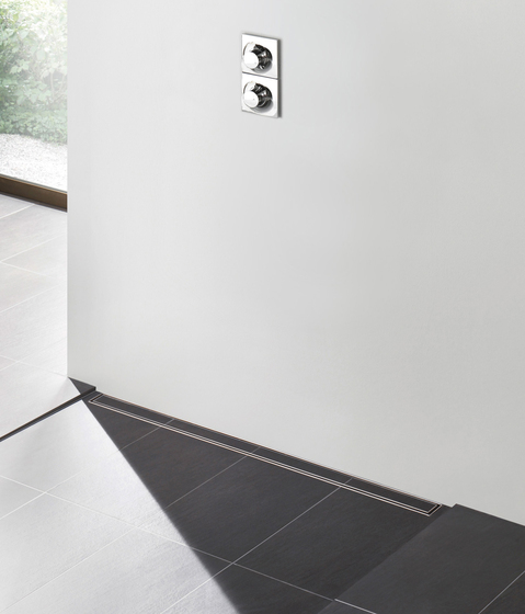 TECEdrainline shower channels plate by TECE