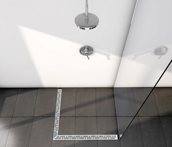 "TECEdrainline shower channels stainless steel ""basic"" by TECE"