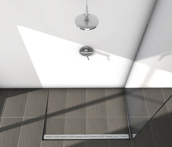 "TECEdrainline shower channels stainless steel ""organic"" de TECE"