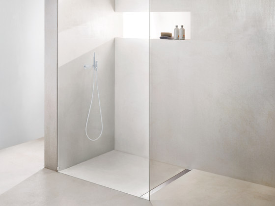 "TECEdrainline shower channels stainless steel ""quadratum"" by TECE"