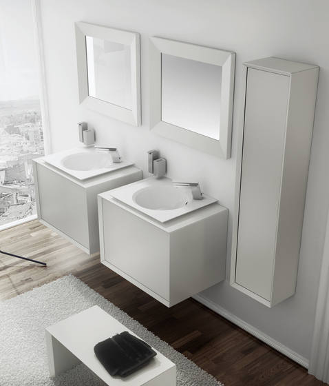 Unique 2 Sinks Washbasins For External Taps by pom d'or
