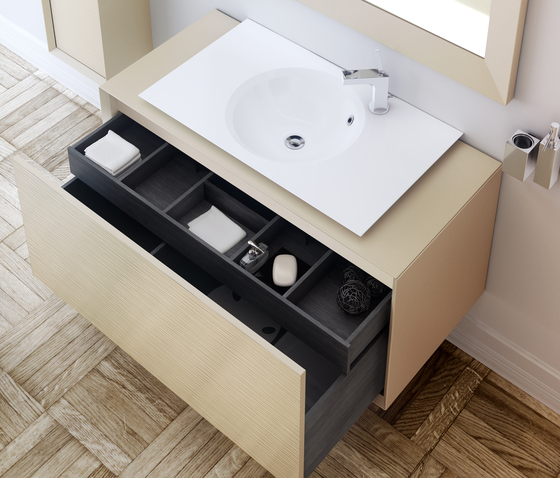 Unique 2 Sinks Washbasins For External Taps by pomd'or
