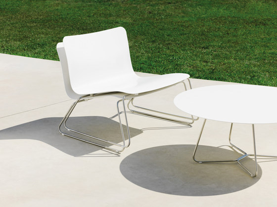 Slim Stackable Chair by Viteo