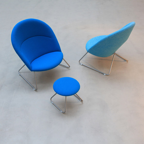 Dennie Chair with Footstool de onecollection