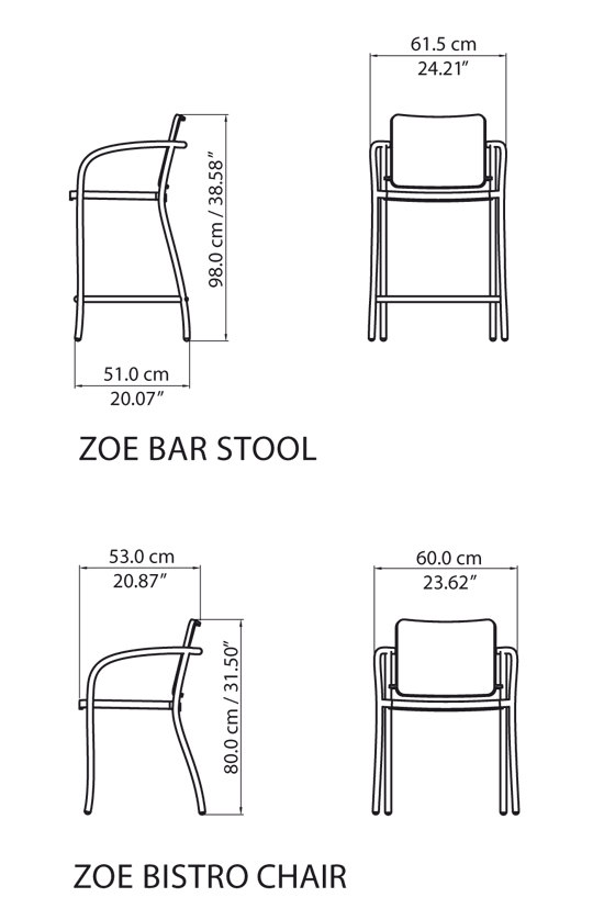 Zoe Bistro Chair de steve & james