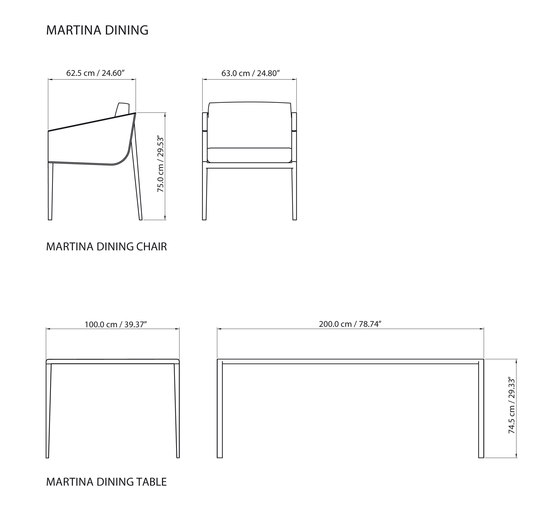 Martina Lounge table de steve & james