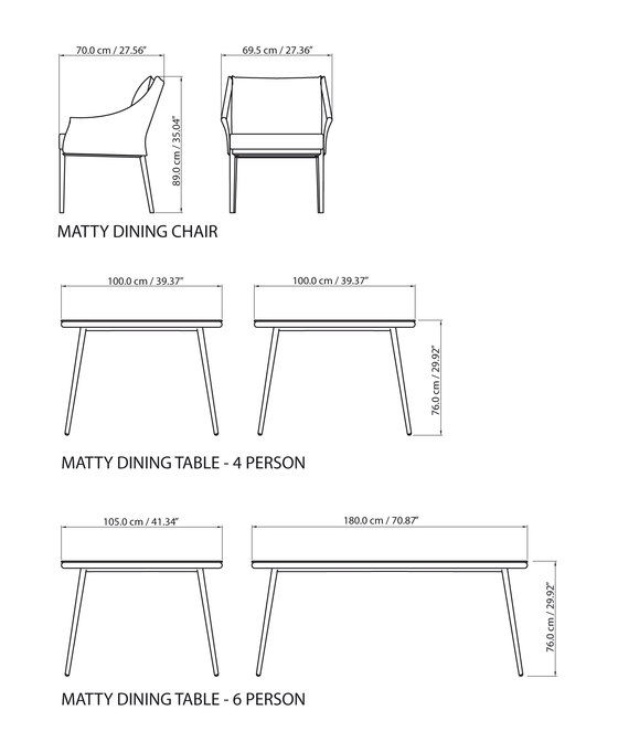 Matty Dining chair by steve & james