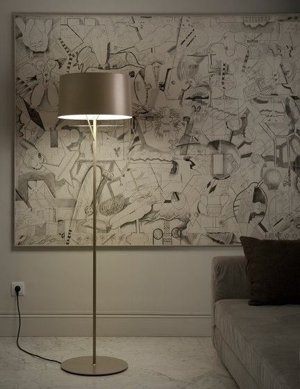 Eda p Floor lamp by Metalarte