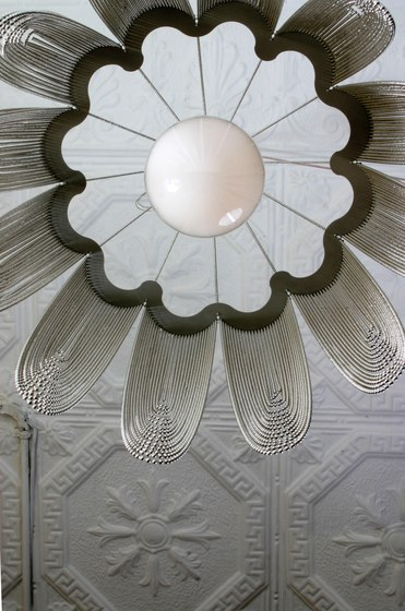 Scalloped Looped 600 Pendant Lamp custom by Willowlamp
