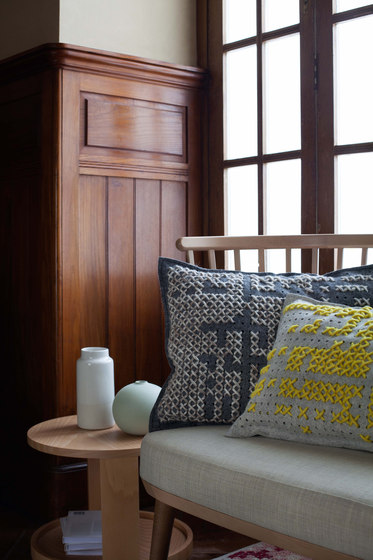 Canevas Cushion Abstract Yellow 6 von GAN