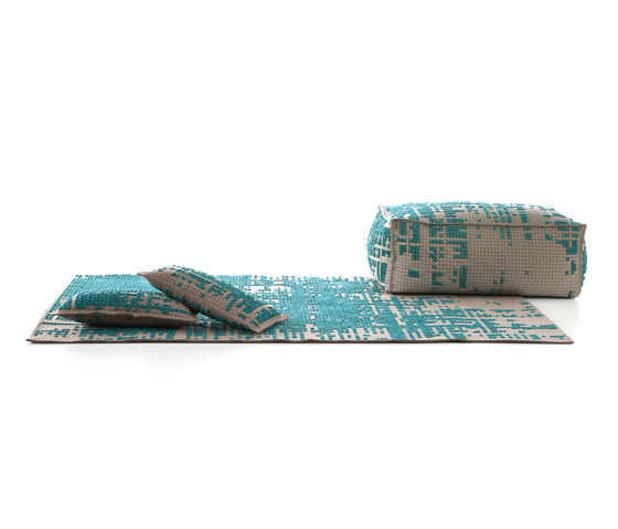 Canvas Rug Abstract Green 9–10 di GAN