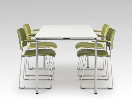 Usu table with modesty panel by HOWE