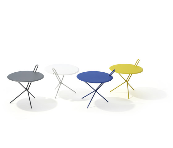 Hook folding table by Lampert