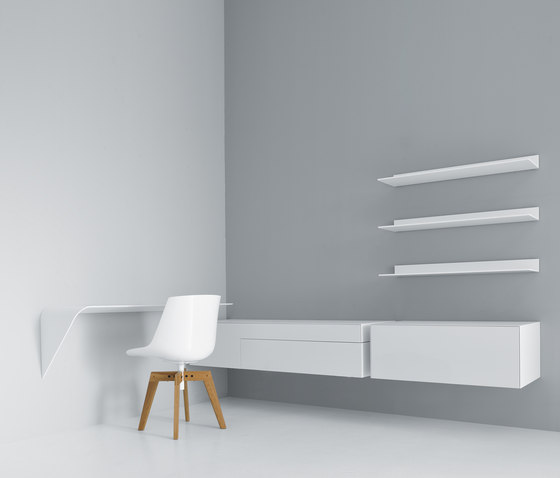 Mamba shelfdesk  Illuminated shelves by MDF Italia