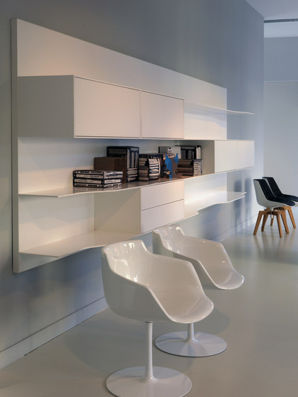 Wave wall system by MDF Italia