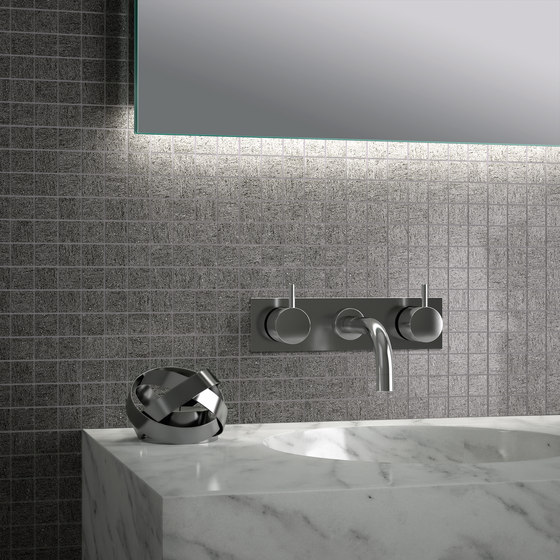 Magma Gris Satin Polished SK Mosaic B by INALCO