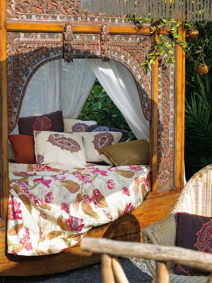 Cacao azul curtain fabrics from gast n y daniela - Gaston y daniela cortinas ...