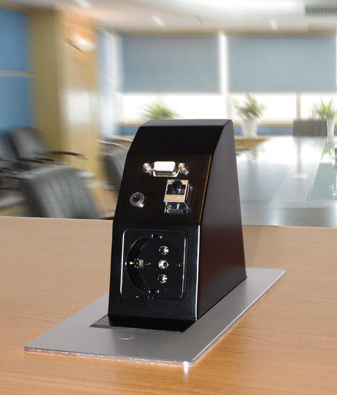 Dubay desk connector panel by KOMTECH