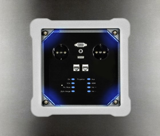 Sky design desk connector panel by KOMTECH